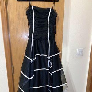 Black Layered Ruffle Dress